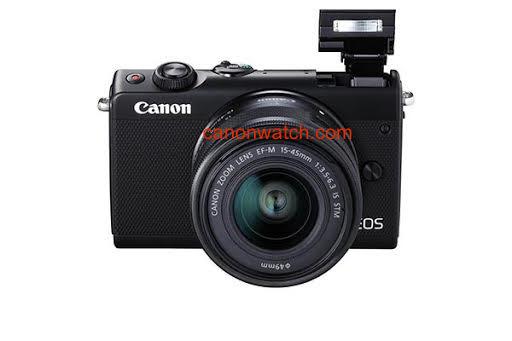 Canon EOS M100, со встроенной вспышкой