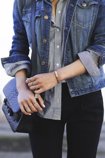 camisa + jaqueta jeans
