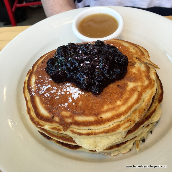blueberry pancakes at Clinton St. Baking Co. in NYC