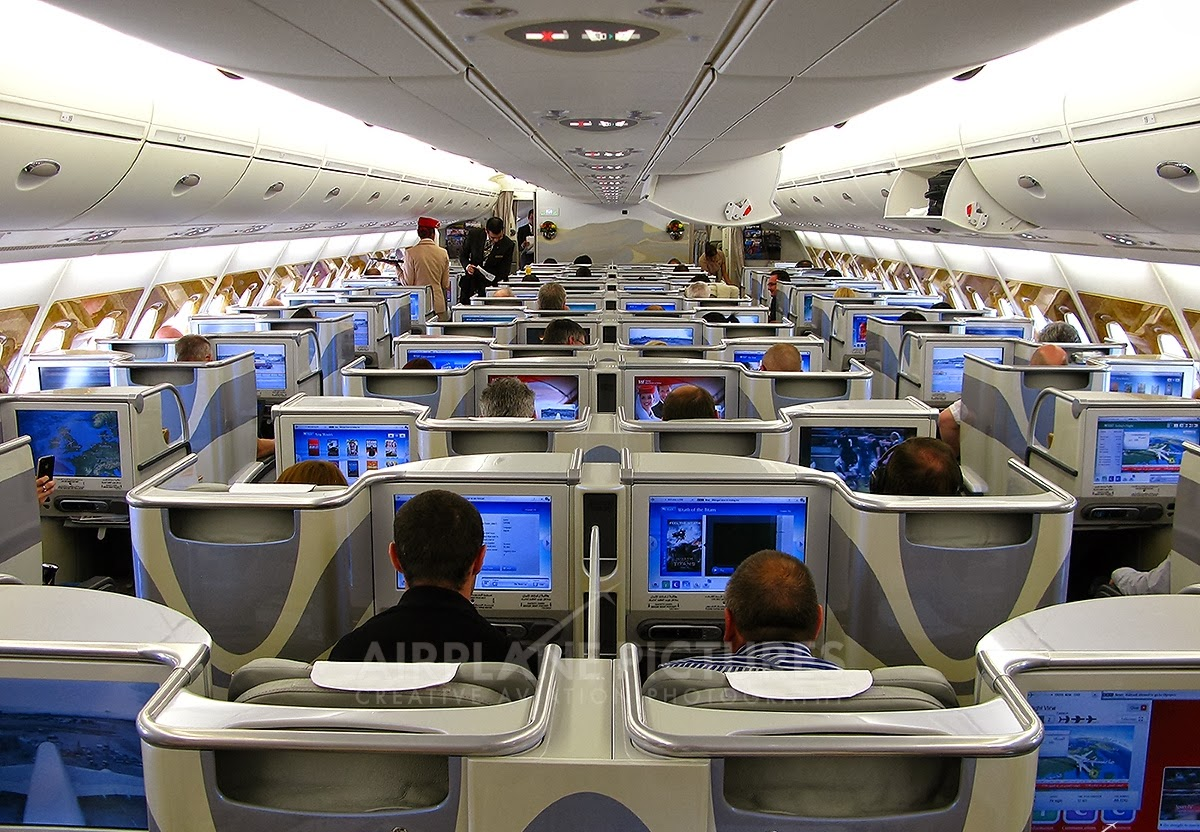 Airplanes Technology Airbus A380 Interior Economy Class