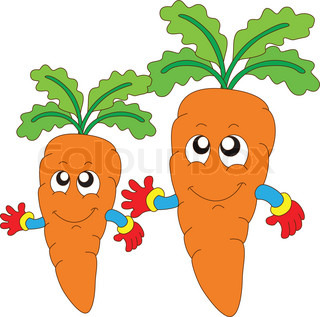 Gambar Kartun Wortel Buah Sayur
