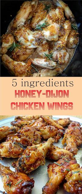5-INGREDIENT SLOW COOKER HONEY-DIJON CHICKEN WINGS