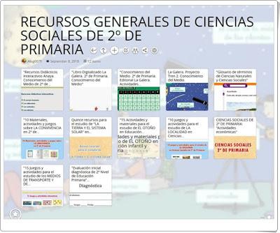 """""""12 RECURSOS GENERALES DE CIENCIAS SOCIALES DE 2º DE PRIMARIA"""""""