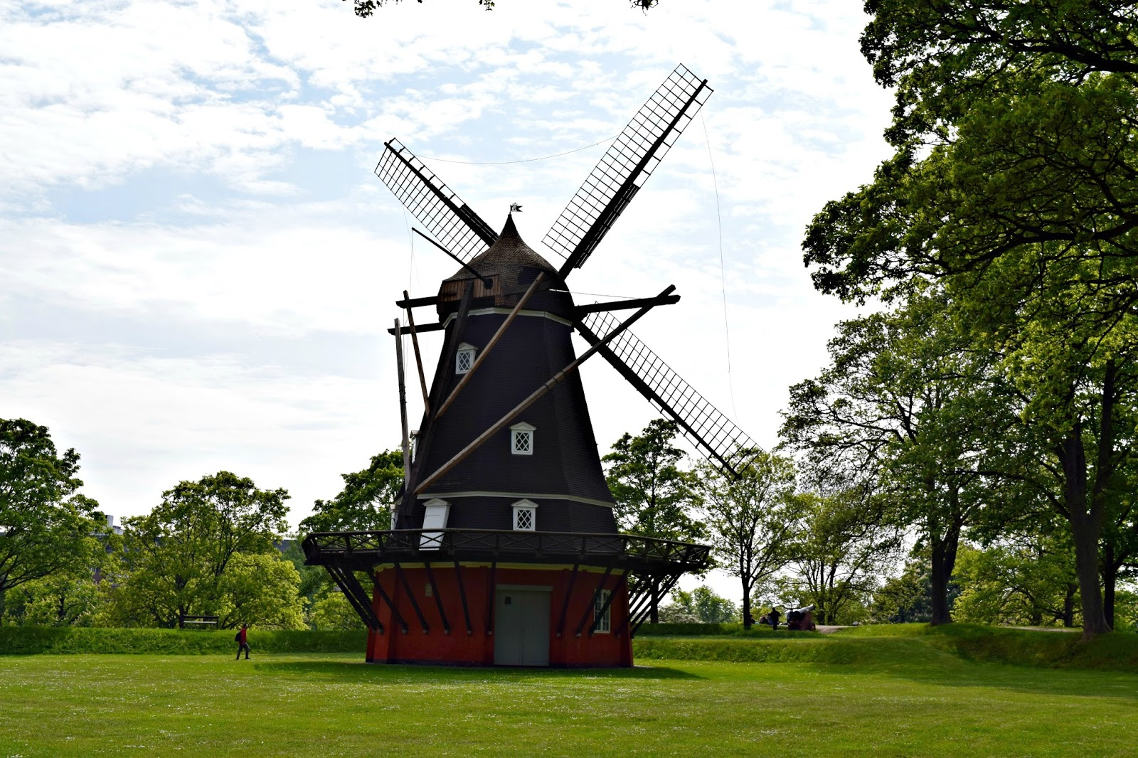 Windmill in the Kastellet Park in Copenhagen