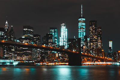brooklyn-bridge-lights-night time view