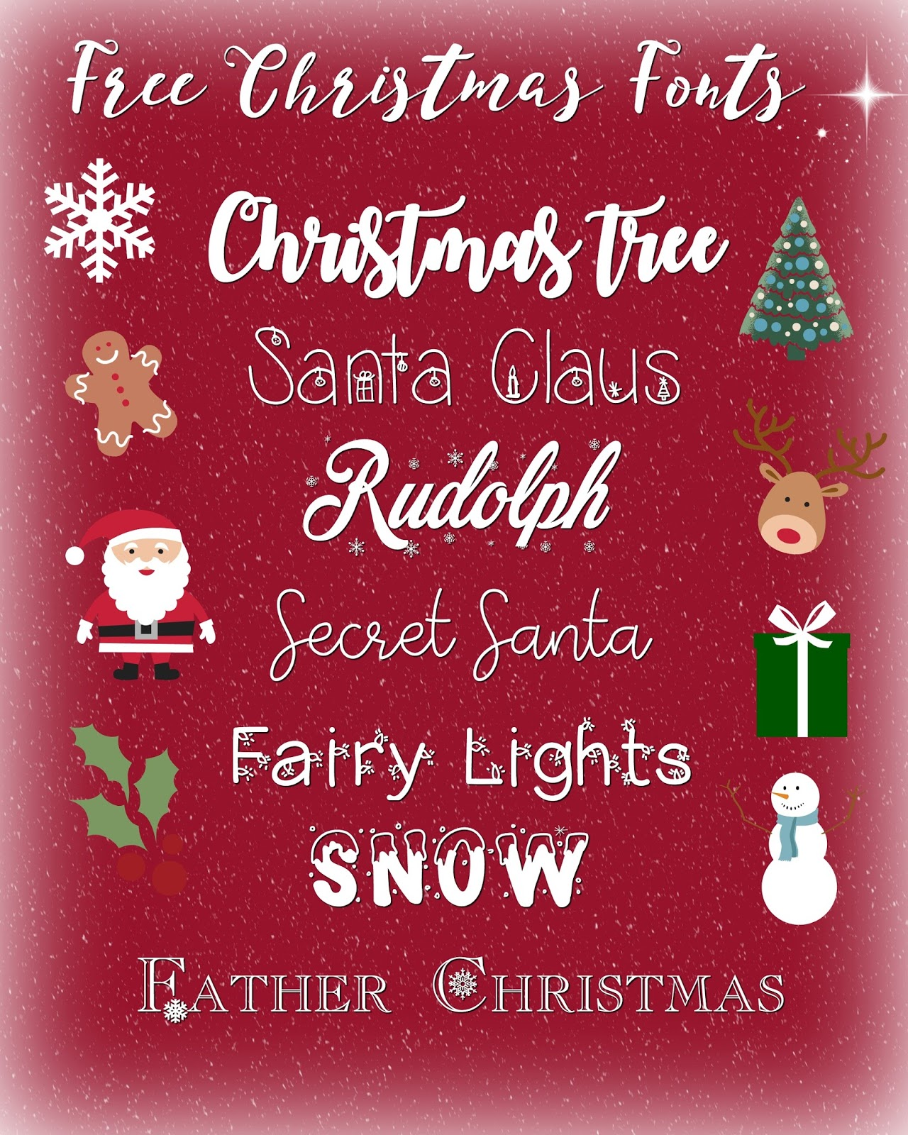 blogging lifestyle fonts resources free christmas fonts free fonts christmas - Christmas Fonts Free