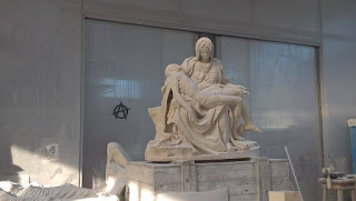 Cópia da Pietà do Michelangelo em Carrara, Toscana