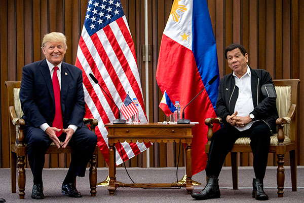 Donald Trump e Rodrigo Duterte
