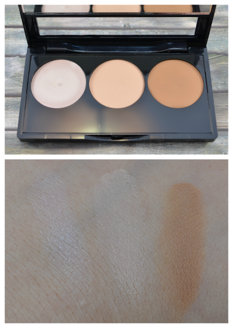 Alverde Contouring Kit 01 light Swatches