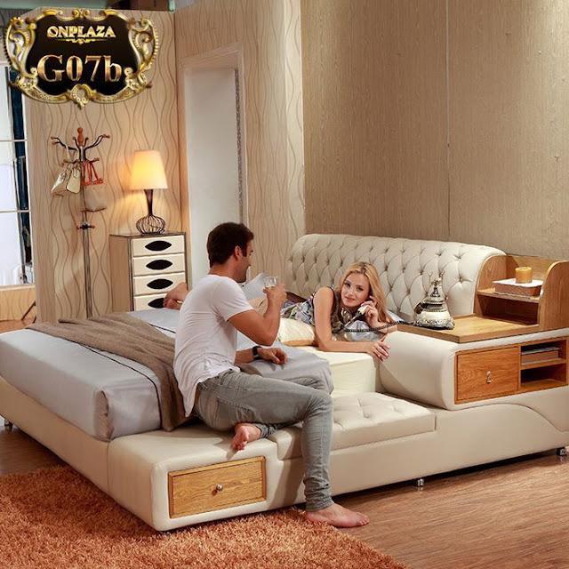 Giường ngủ da đa năng nhập khẩu G07 phong cách hiện đại ; Giá : 16.964.648VNĐ