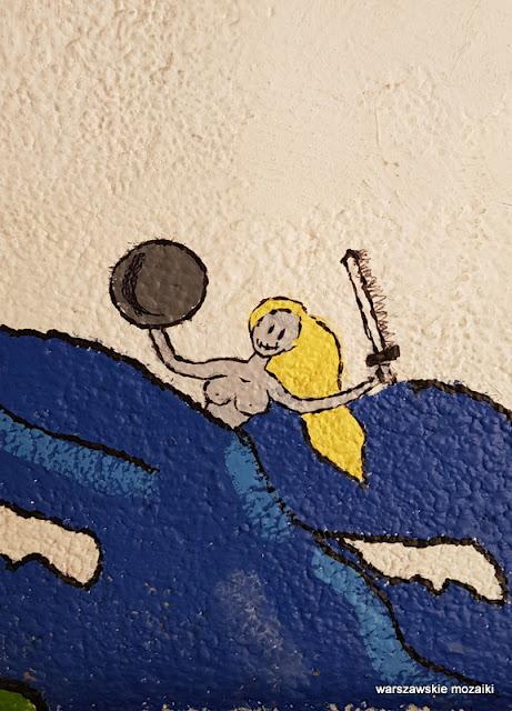 Warszawa Warsaw mural streetart Saska Kępa Syrenka