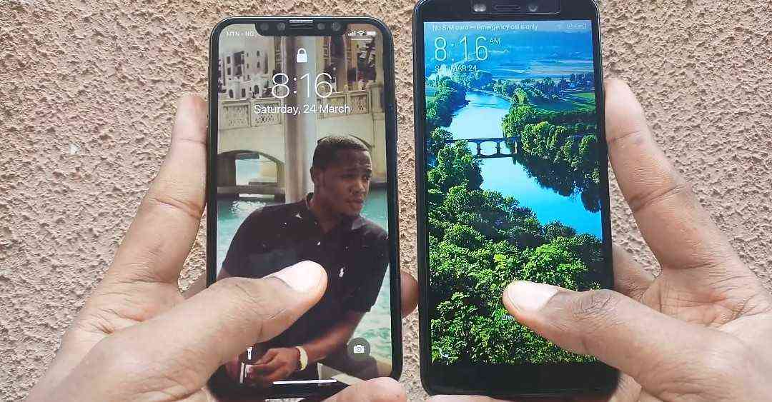 Infinix Hot S3 Face ID vs The Apple iPhone X.