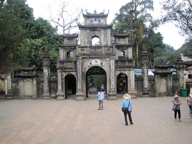 temple entrance perfume pagoda vietnam
