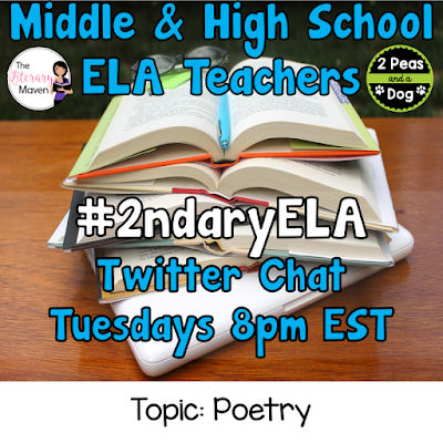 Join secondary English Language Arts teachers Tuesday evenings at 8 pm EST on Twitter. This week's chat will be about teaching poetry.
