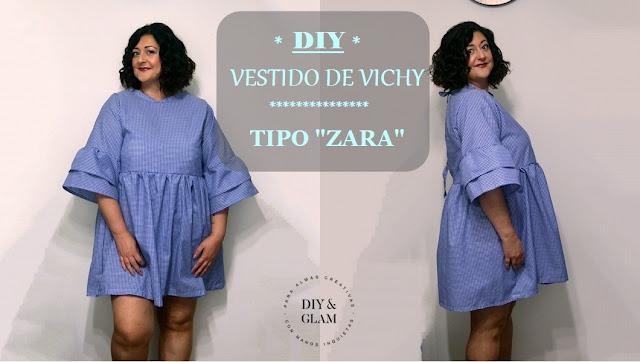 Diy vestido vichy inspirado en Zara