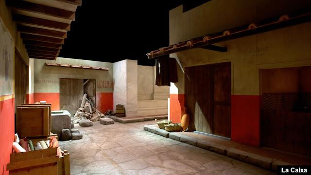 Imagen de la exposición sobre la vida en la Roma clásica