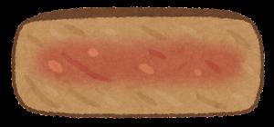 ステーキの焼き方のイラスト(ミディアム)