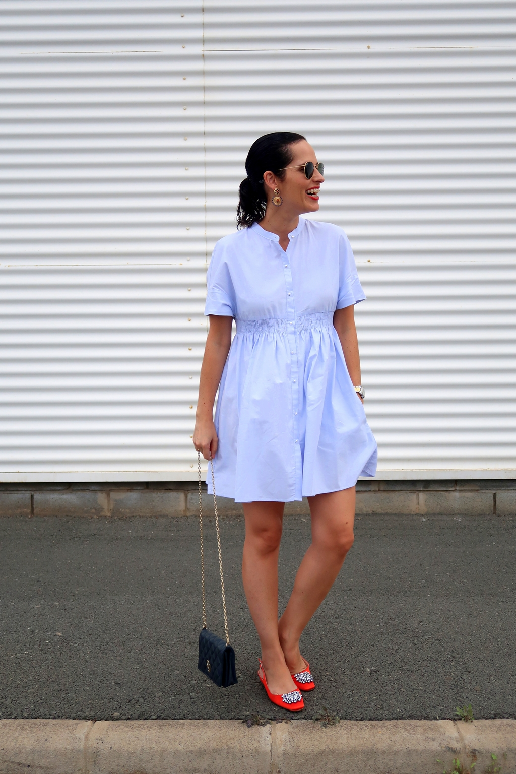 zara-blue-dress-outfit-gema-betancor