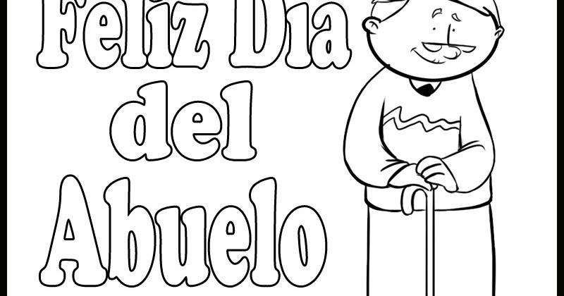 Dia Del Abuelo Para Colorear Y Pintar Colorea El Dibujos