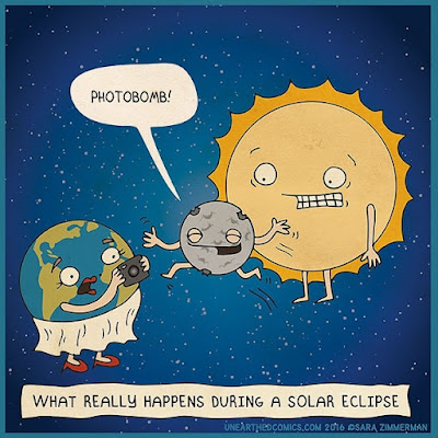 What really happens during a solar eclipse - Photobomb!