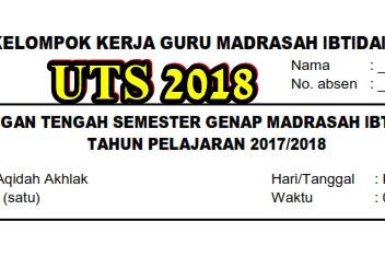 Download Soal UTS Aqidah Akhlak Semester 2 Kelas 1,2,3,4,5,6 Tahun Ajaran 2017/2018