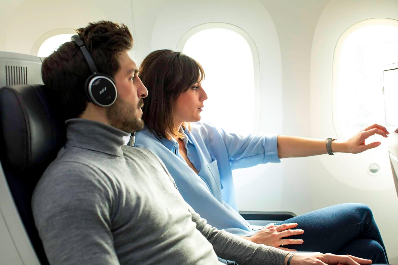 Volar en la Premium Economy Class de Air France es viajar en una burbuja de comodidad