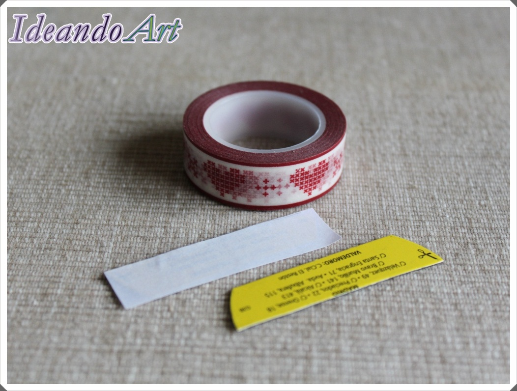 Imán DIY washi tape