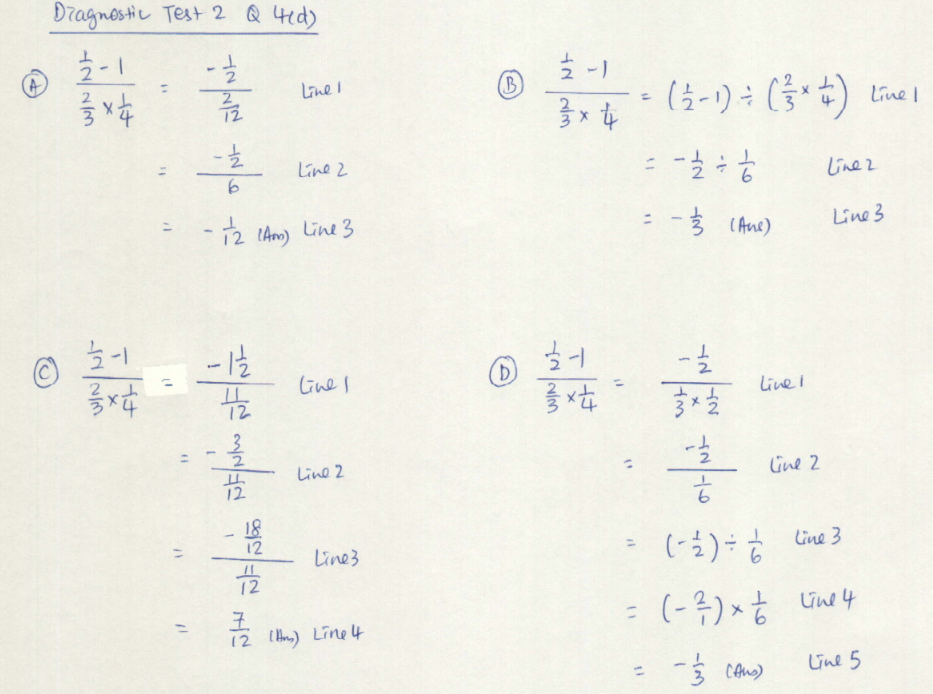 2013 S1-07 Maths Blog: What's Wrong: Diagnostic Test 2 Q4d