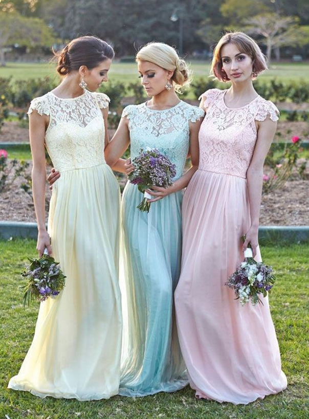 Designed Coventry Elegant A-Line Scoop Floor-Length Sleeveless Summer Natural Waist Bridesmaid Dress