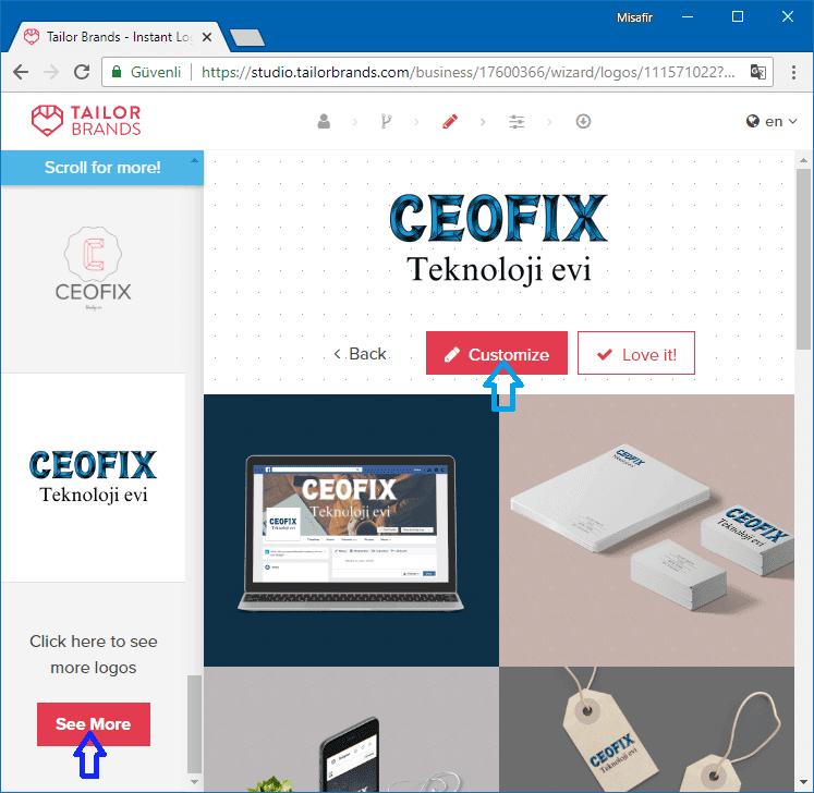 Tailorbrands logo tasarım - www.ceofix.com