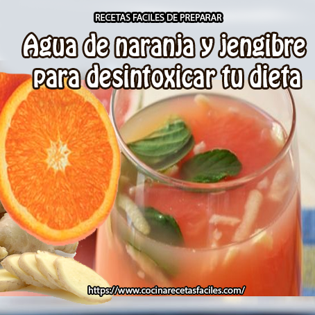 agua,jengibre,menta,naranjas