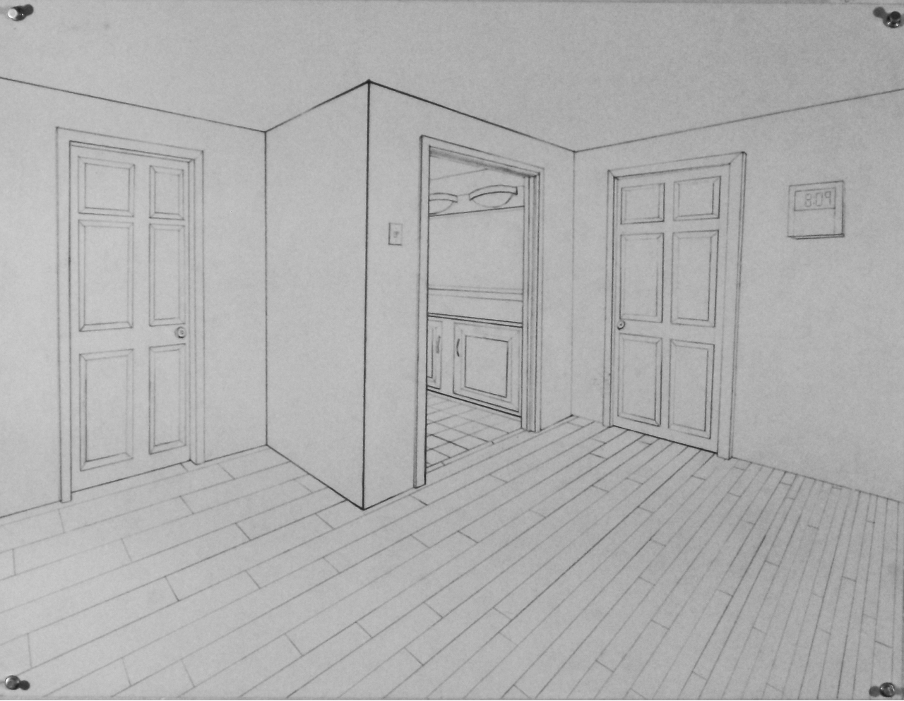 for details expectations for final interior drawing HINT Make sure your  furniture is placed so that. 2 Point Perspective Bedroom