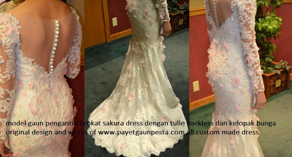 Model Gaun Pengantin Duyung Brokat Full Mote Payet Gaun Pesta