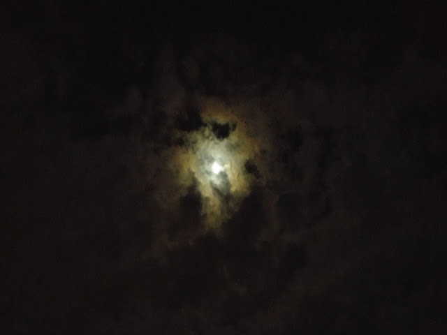 Moon and clouds #nightlights