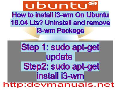 Install i3-wm on Ubuntu 16 04