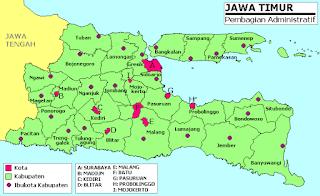 Kota Kota Di Jawa Timur