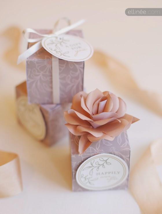 Freebie de boda con cajitas gratis para los detalles