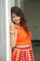 Shubhangi Bant in Orange Lehenga Choli Stunning Beauty ~  Exclusive Celebrities Galleries 018.JPG