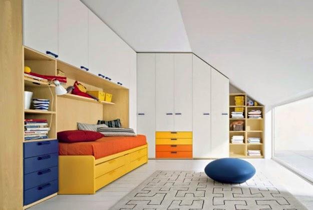 dormitorio para niño abuhardillado