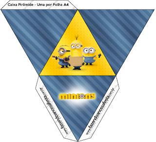 Caja con forma de pirámide de Película de los Minions