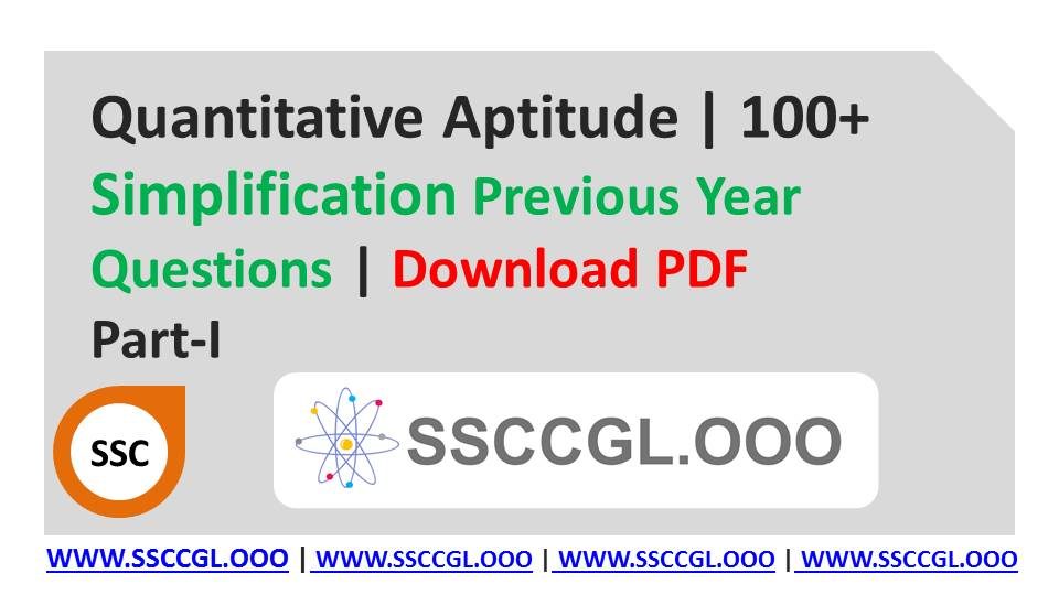Ssc Cgl Previous Year Questions Pdf