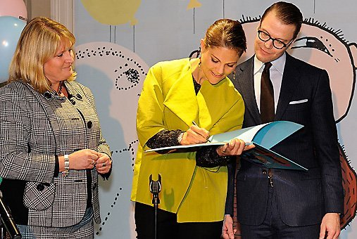 Crown Princess Victoria and Prince Daniel at the the opening of the Alfie Atkins Culture Centre