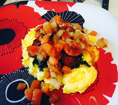 sunday brunch, brunch, scrambled eggs,