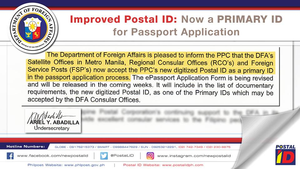 New Postal Id Now Approved As Primary Id In Ph Passport Application
