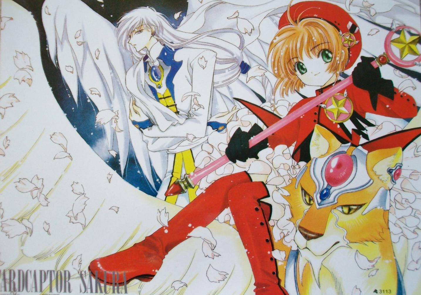 yue, sakura kinomoto, kero, keroberos, cardcaptor sakura, card captor sakura, anime, manga