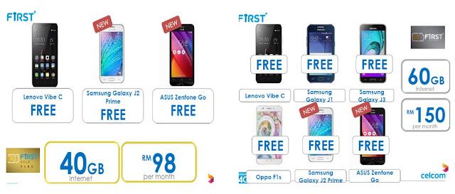 Celcom FIRST Free Smartphones Promo