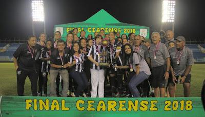 Decisão do Campeonato Cearense Feminino: Ceará Campeão !!!