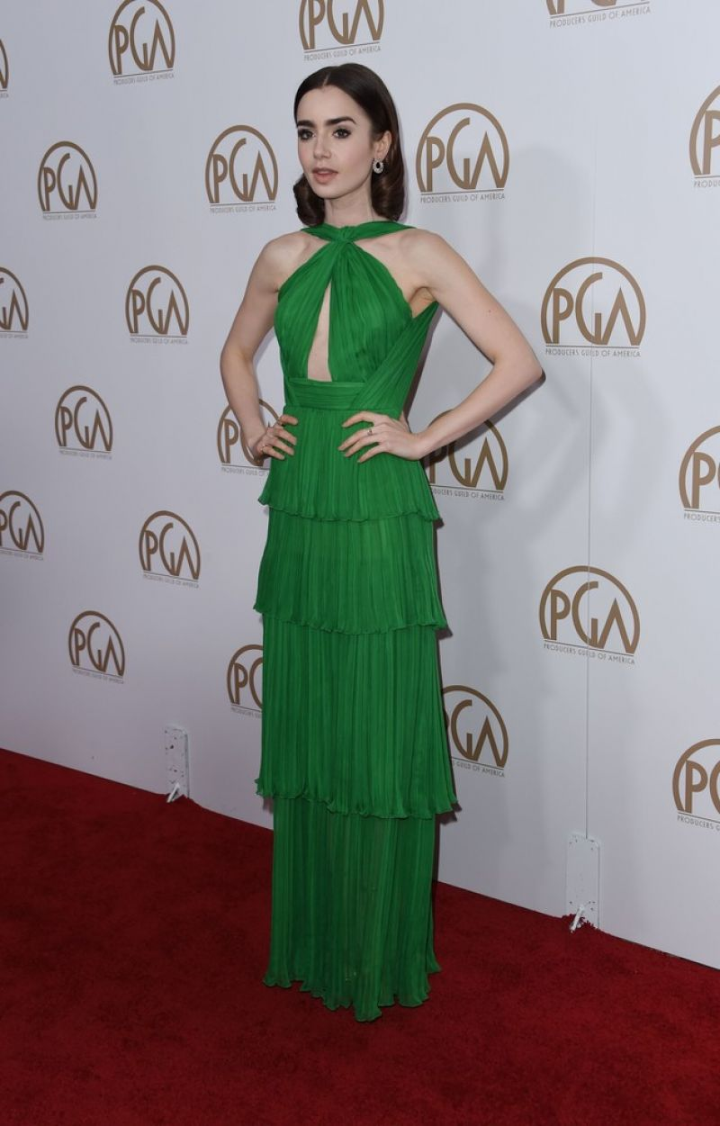 Lily Collins -Producers Guild Awards in Beverly Hills