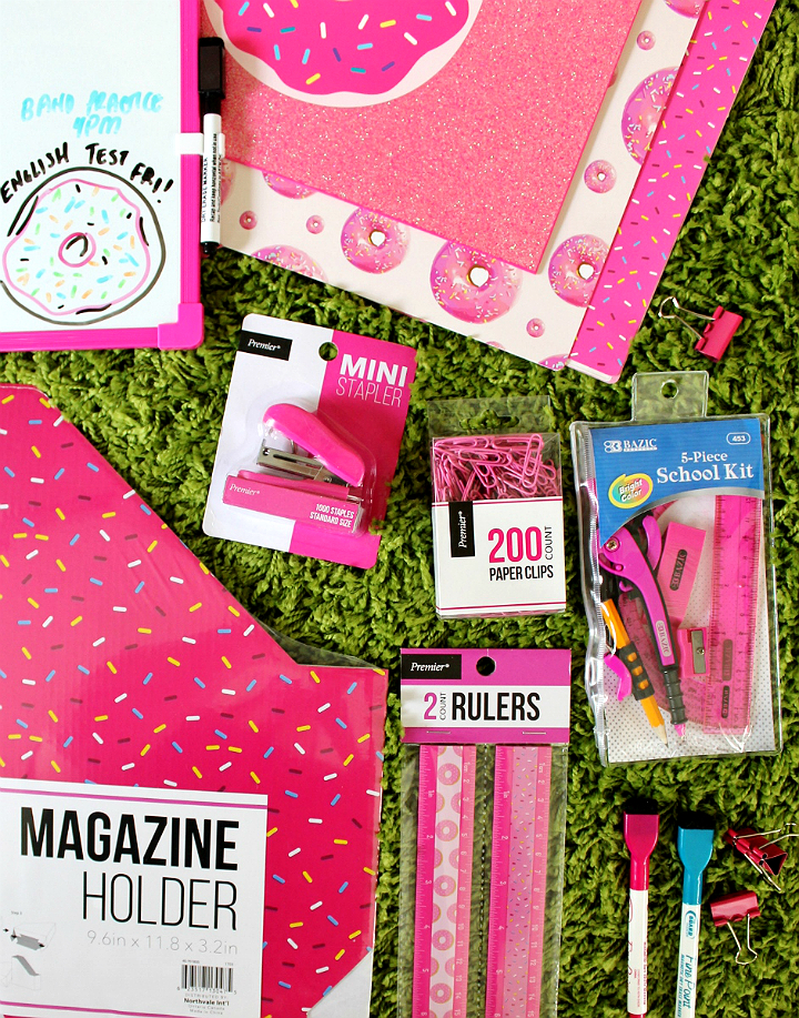 Back To School gifts for tweens- Donut school supply kit. #DoingThe99 #99YourSchoolYear #AD