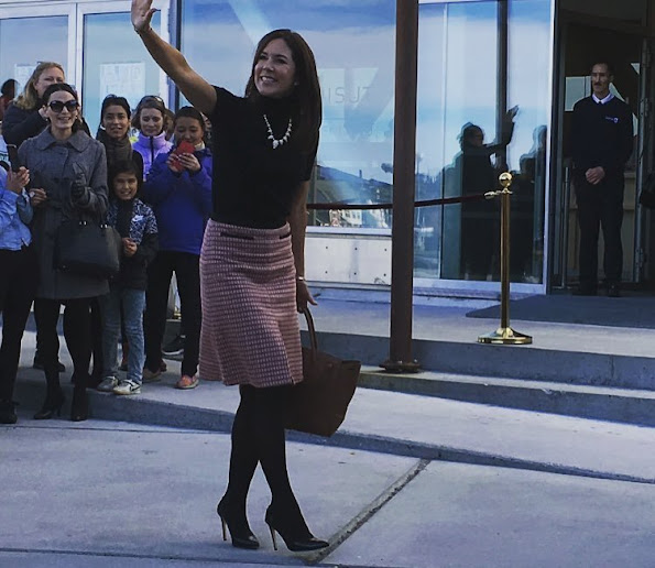 Crown Princess Mary of Denmark started her three days Greenland